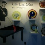 A creative display by glass artist Leo Lex from the DC Glassworks studio in Hyattsville, MD.