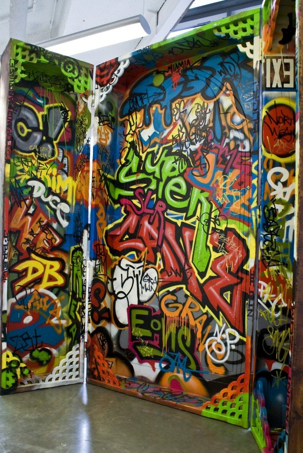 Wesley Clark, Altered [tryptic interior], 2012, courtesy Conner Contemporary Art, copyright K. Wesley E. Clark