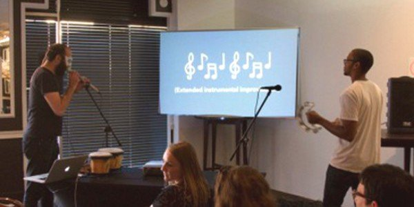 """Collaborative Karaoke"" ~ David B. Smith as Doom Trumpet for (e)merge 2012"
