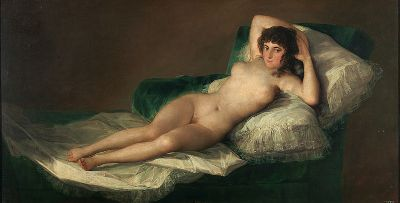 """Maya Desnuda (The Nude Maja)"" by Francisco de Goya.  Photo Courtesy of Wikipedia Commons."