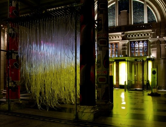 """Virtual Sunset"" installation view at the Victoria and Albert Museum, London.  Photo courtesy of Studio Tobias Klein."