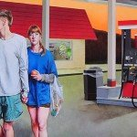 Gas Station at Night by Emma Steinkraus. Photo courtesy of Evolve Urban Arts Project.