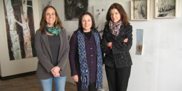 [From Left: Julia Bloom, Michele Montalbano, Susan Hostetler]. Photo by Zofie Lang for East City Art.