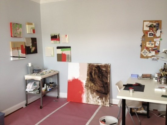 Gail Vollrath's studio. Photo courtesy of the artist.