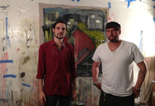 Malone (left) and Ceppetelli in their studio.  Photo by Eric Hope for East City Art.
