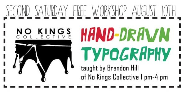 Free Art Workshop: Hand-Drawn Typography with Brandon Hill of No Kings Collective at Art Enables