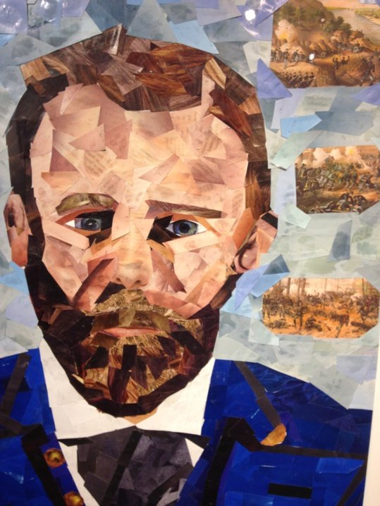 John M. Williams Gen. Ulysses S. Grant Cut Paper Collage Photo by Eric Hope for East City Art.