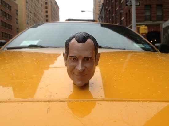 "Daniel Wilson, ""9Y40,"" Yellow cab, stereo audio installation. Photo courtesy of (e)merge arts fair."