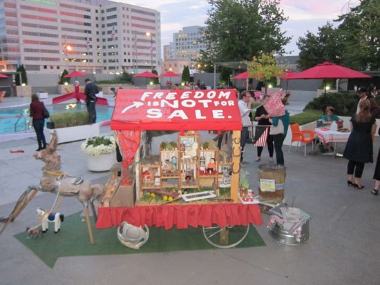 (e)merge art fair, Opening night, October 3, 2013.