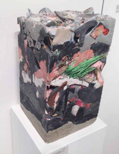 "Jack Henry Untitled (Core Sample #13), 2012 Gypsum cement, acrylic and found objects,  18"" x 10"" x 10"" Courtesy of the Artist Photo by Eric Hope for East City Art."