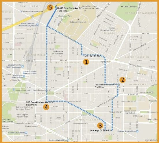 East DC Open Studio Tour Map
