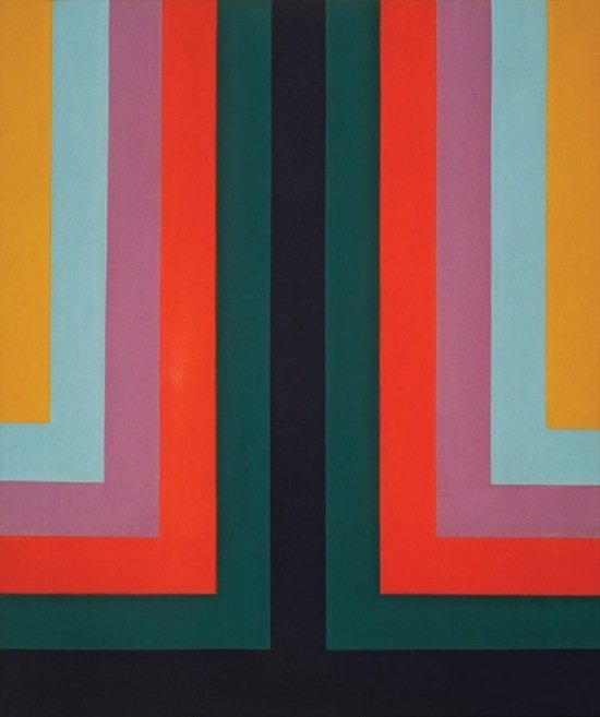 "Howard Mehring, Two and Three, 1966, acrylic on canvas, 40 1/2"" x 34"". Photo courtesy of HEMPHILL."