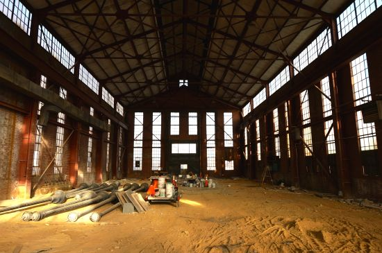 """Glen Kaino will """"build a bridge"""" inside this dilapidated warehouse on Tingey Street, SE.  Image courtesy of Shamim M. Momin and the DC Commission on the Arts and Humanities."""