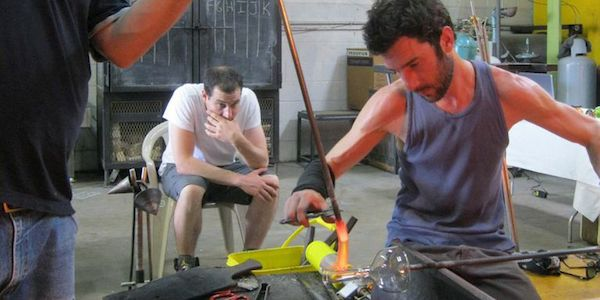 January Classes at DC GlassWorks + Sally Resnik Rockriver Glassblowing Demonstration