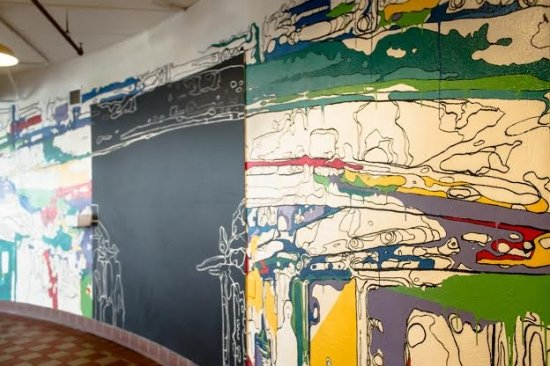 """""""Coloring Outside the Lines"""" mural in Torpedo Factory Art Center, photo courtesy of TFAC."""