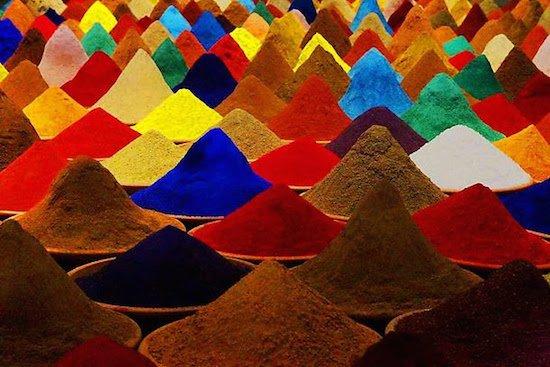 """Sonia Falcone, """"Color field,"""" mixed media installation, courtesy of Salar Galería de Arte, Bolivia"""