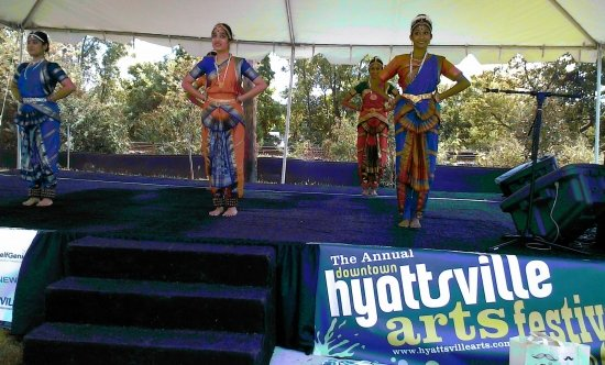 Jayamangala Indian Dance students at Hyattsville Festival 2013.