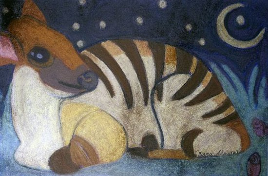 Night Time Bongo by Mara Clawson. Photo courtesy of Art Enables.