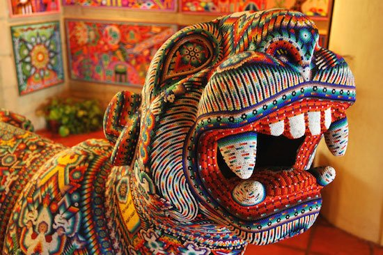 Beaded jaguar in Puerto Vallarta, Mexico by Wonderlane courtesy of Wikimedia Commons.