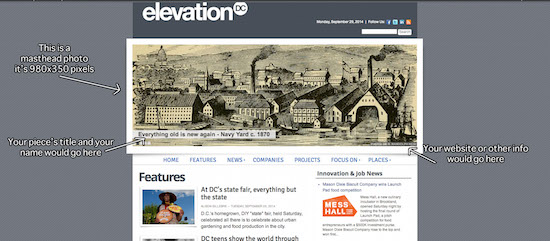 Masthead example courtesy of Elevation DC.