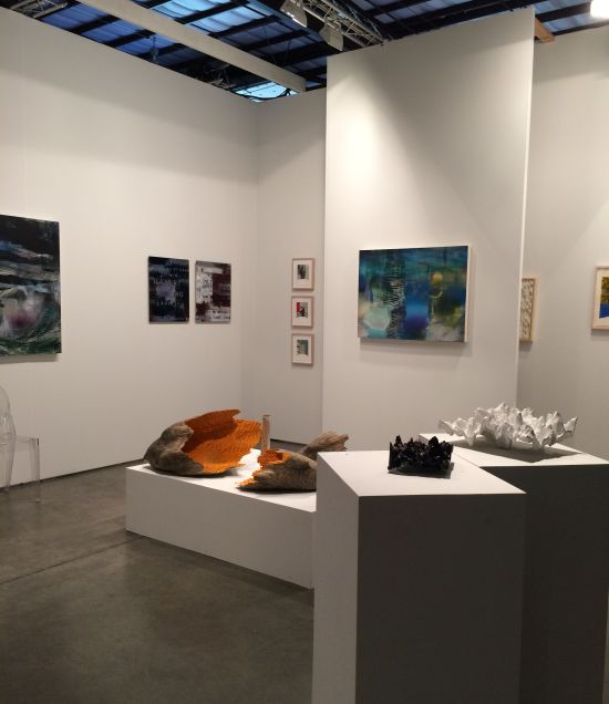 The Adah Rose Gallery booth at Art Silicon Valley 2014.  Photo courtesy of Adah Rose Bitterbaum.