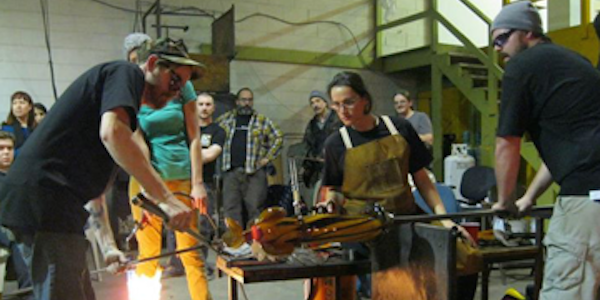 Sculpture Demonstration at DC GlassWorks by Robin and Julia Rogers