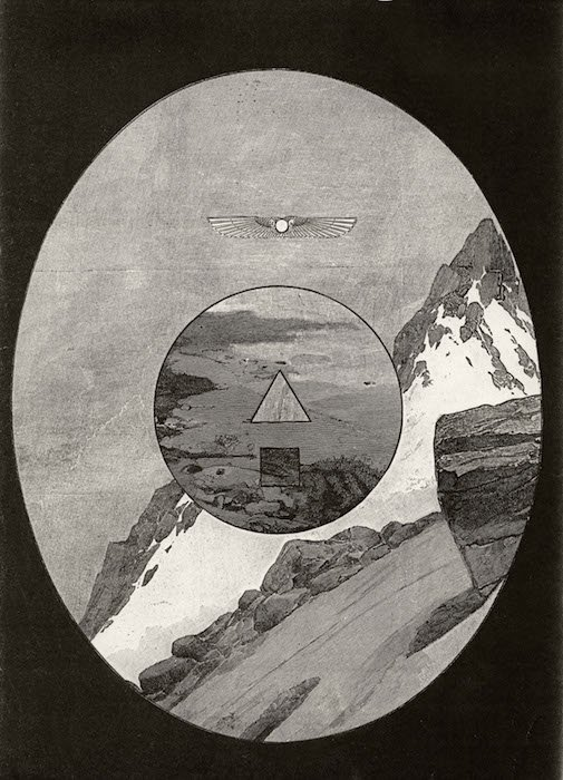 Bruce Conner, Untitled September, 1986 Engraving, collage. Courtesy of The American University Museum.