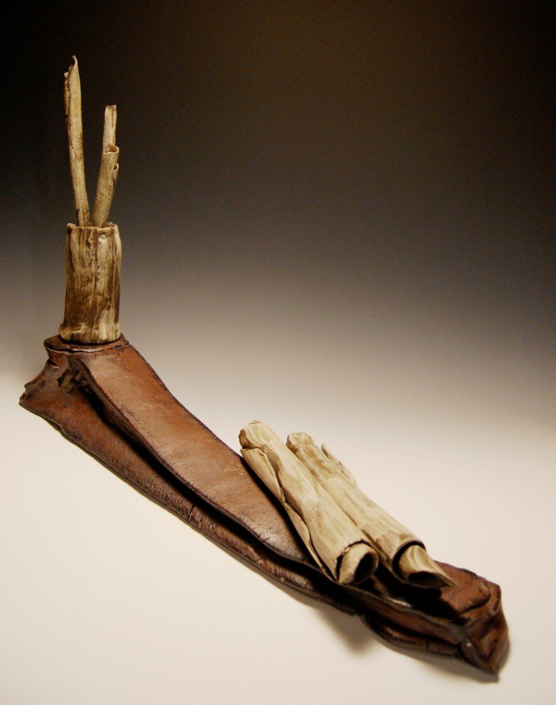 "Derek Thomas Hambly, ""Scroll and Pen Study #12″, ceramic"