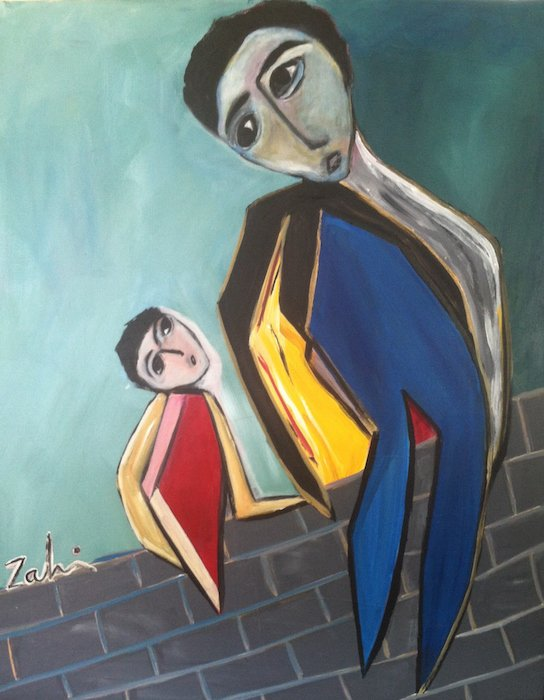 Father and Son by Zahi Khamis. Courtesy of Gallery Al-Quds.