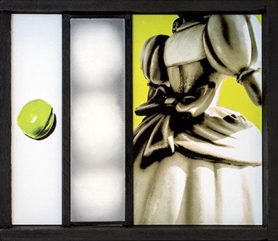 "The Princess on the Pea, 2012 Inkjet Print, Box, Acrylic, Plexiglass, Cotton Balls, Vellum, 6"" x 8"" x 4.5"" Photo courtesy of Jay Townsend."
