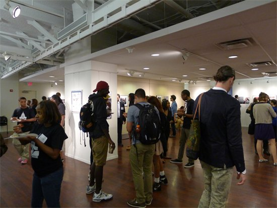 Critical Exposure 2014 student exhibition at PEPCO Edison Center.  Photo by Phil Hutinet for East City Art.