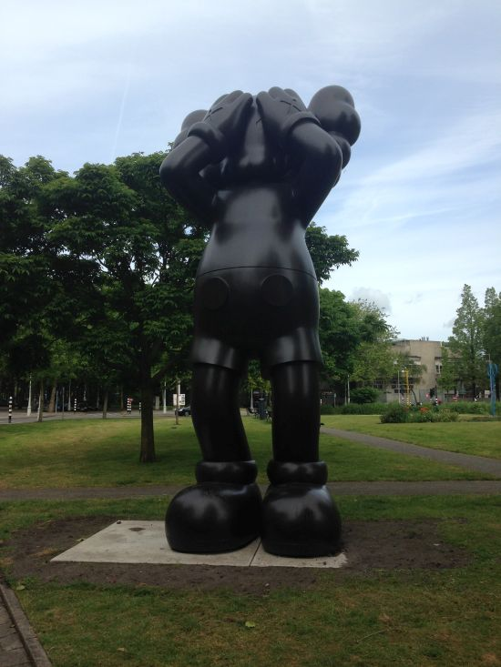 KAWS, At this Time 2013, Afromosia Wood Photo for East City Art by Eric Hope.
