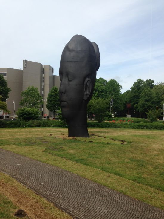 Jaume Plensa, Duna 2014, Cast Iron Photo for East City Art by Eric Hope.