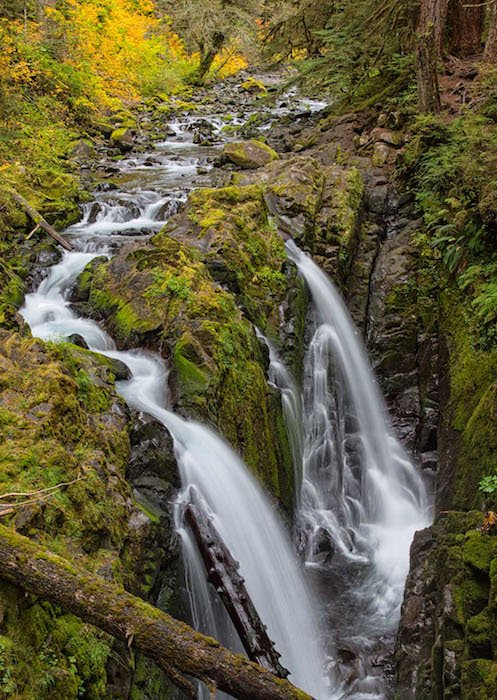 Sol Duc Falls, Olympic Peninsula, WA by Harvey Kupferberg. Courtesy of Touchstone Gallery.