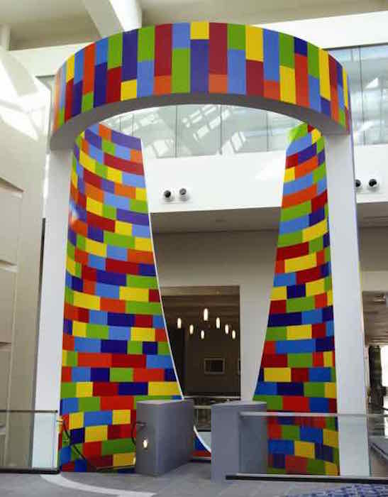 Sol LeWitt, Wall Drawing #1103, 2003 (image from ArtsManager, LLC). Courtesy of the Walter E. Washington Convention Center.