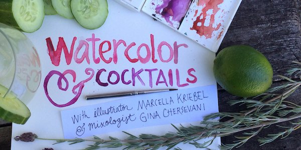 Union Market Hosts Marcella Kriebel for Illustrated Cocktails: An Evening of Drinks + Painting