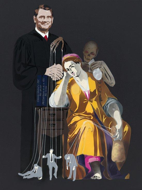 Michael Fischerkeller, Portrait of Ignorance (Campaign Finance Reform). Image courtesy Touchstone Gallery.