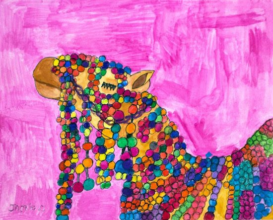 A Very Fancy Camel by Jackie Colman. Courtesy of Art Enables.