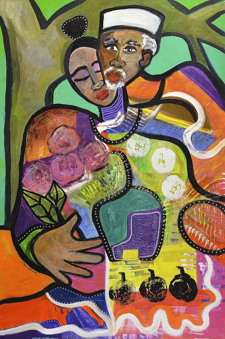 Sweet Moments by Gwendolyn Aqui-Brooks. Courtesy of Hill Center Galleries.