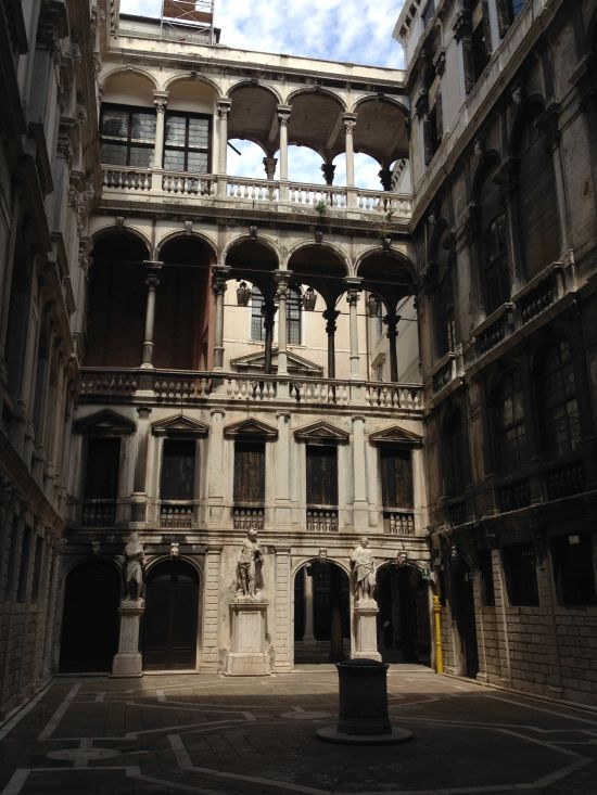 Courtyard of the Palazzo Pisani. Photo for East City Art by Eric Hope.