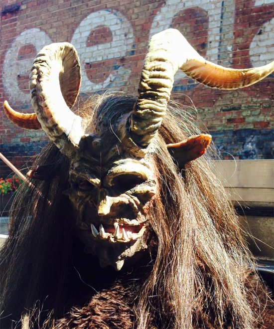 Krampus at Gallery OonH.  Image courtesy of the gallery.