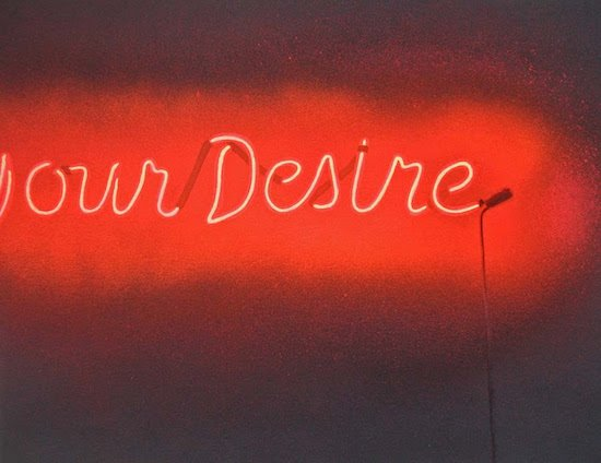 "Renée Stout, (Y)our Desire, 2015, acrylic and spray paint on paper, 8 1/2"" x 11"". Courtesy of HEMPHILL."