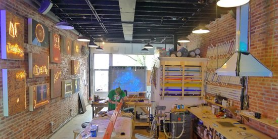 Craig Kraft's new workshop.  Image by Phil Hutinet for East City Art.