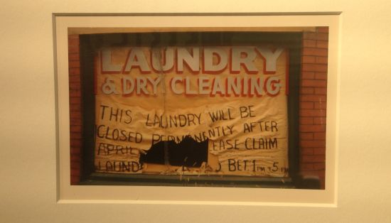 Laundry Sign, 18th Street, NW, Washington DC,1972 William Christenberry Printed 1998, Brownie Chromogenic Print 8 x 10 in. Photo for East City Art by Eric Hope.