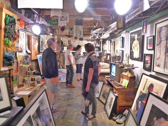 Explore the Mid City Artist DC studios.  Photo by Phil Hutinet for East City Art.
