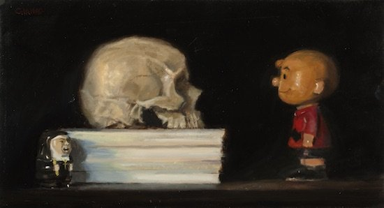 Mark Giaimo, Knowledge and Wisdom, Oil on linen, 11 x 20. Courtesy of Susan Calloway Fine Arts.