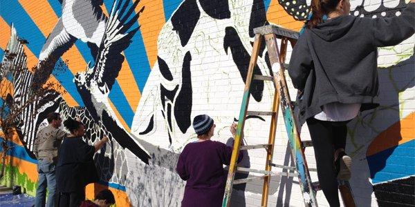 Mural Honors Langley Park's Diversity