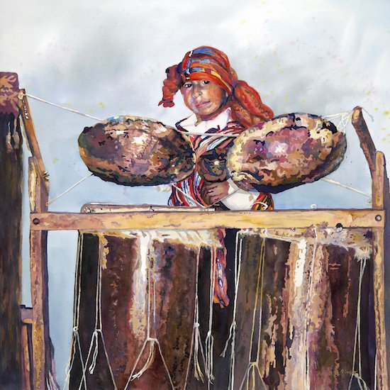 Antiguan Drummer by April M. Rimpo. Courtesy of Touchstone Gallery.