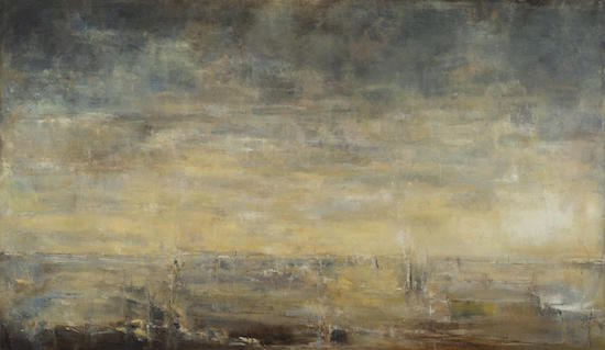 Venice II, 2015 by Lindsay Mullen, oil on canvas 36 x 64 inches. Courtesy of Foundry Gallery.