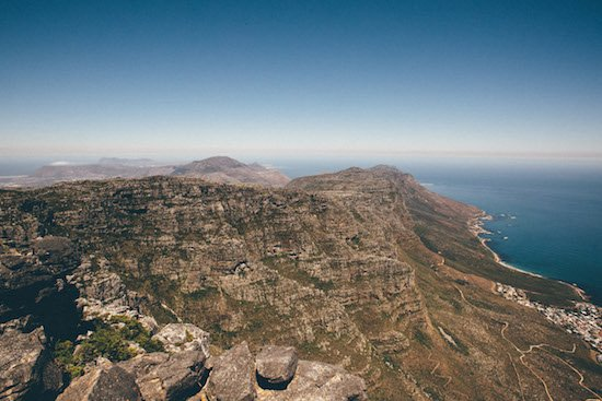 Table Mountain in Cape Town, South Africa by Matthew Frazier.